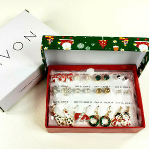 Avon Christmas Earring Set 12 Days Until Christmas